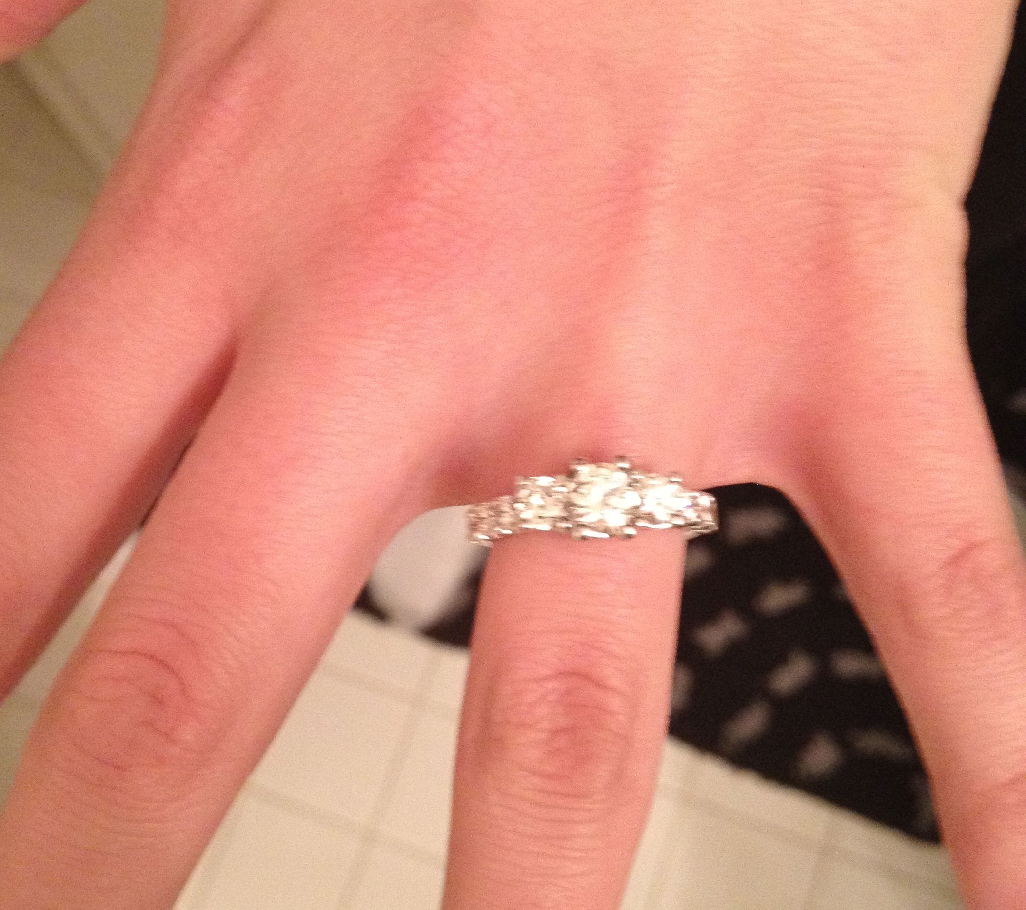 my RING and our proposal story 15 years in the making! http ...