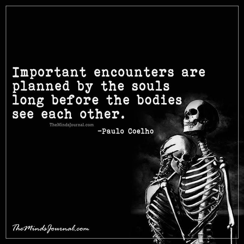 Important encounters are planned by the souls long