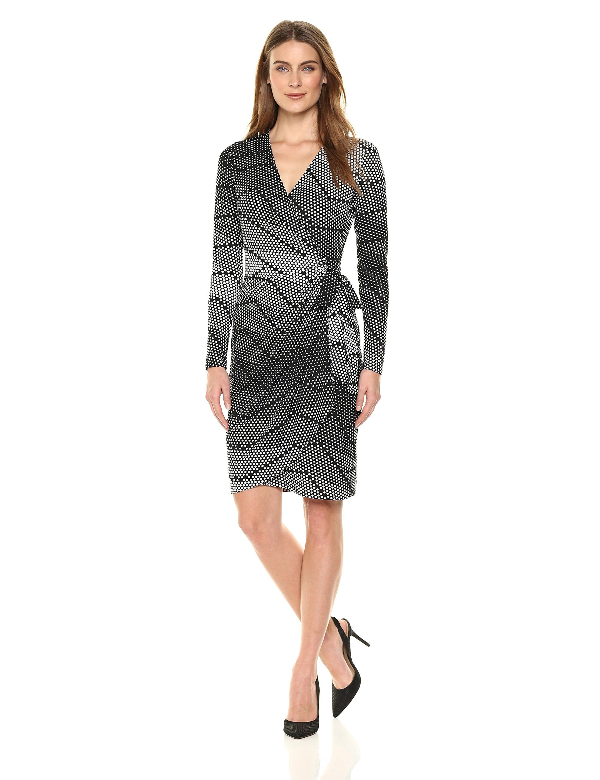 80562f5ab79d AMAZON Lark & Ro Women's Classic Long Sleeve Wrap Dress - Ellie Ross -  PRODUCT