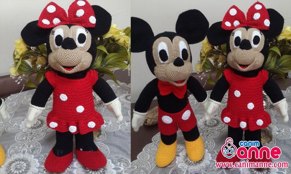 Amigurumi Mickey Mouse Yapılışı http://www.canimanne.com/amigurumi ...