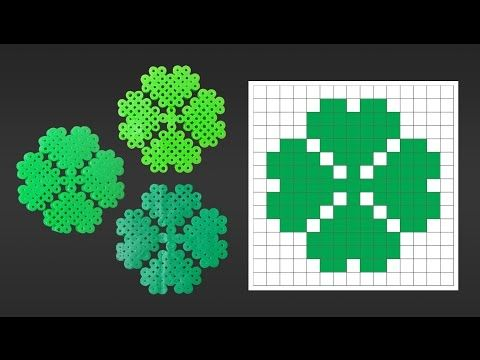 5101da959 Cute 4 Leaf Clover Perler Bead Pattern for St. Patrick s Day. Laceys Crafts  is all about sharing super simple and adorable crafts for kids. Enjoy!