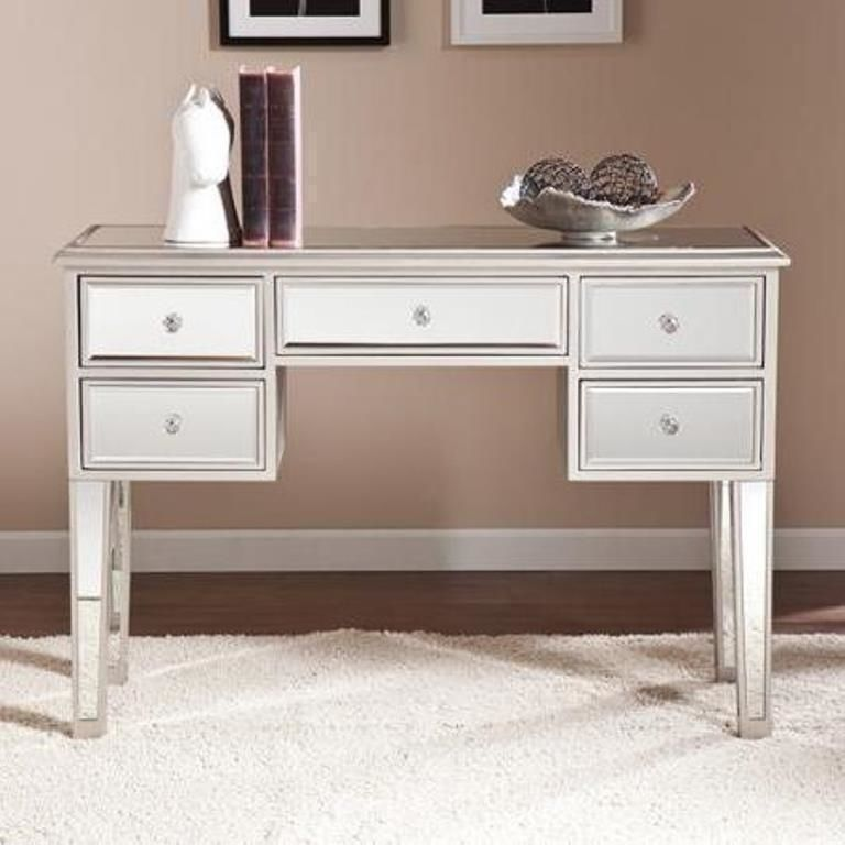 Contemporary Console Table Mirrored Bedroom Desk Make Up Vintage
