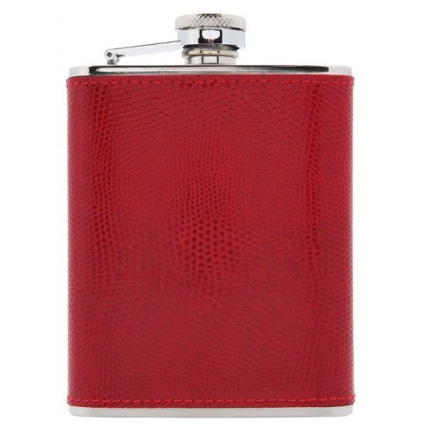 Every man should have a hip flask that he can fill with his favourite tipple! We have two colours to choose from - our very regal purple  or our vibrant red. Both finished to a very hiigh standard, the leather is stitched rather than glued. This high quality item is sure to be a big hit! The screw cap that is held captive by the stainless steel arm  - practical and means that you won't lose the lid! Cheers!