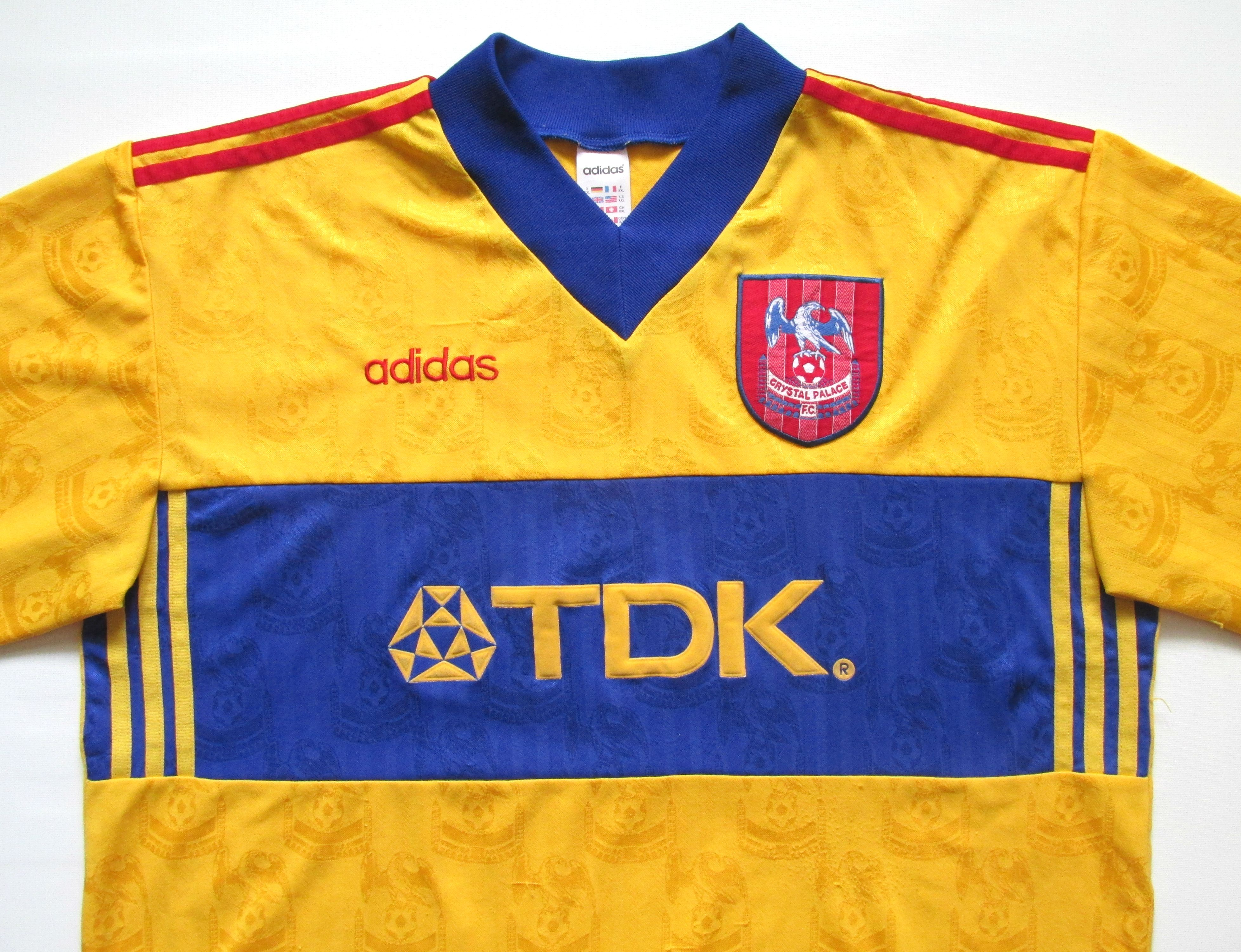 semiconductor novato orificio de soplado  Crystal Palace 1997/1998 away football shirt by Adidas #Palace  #CrystalPalace #CPFC#adidas #so… | Football jersey shirt, Vintage football  shirts, Football shirts