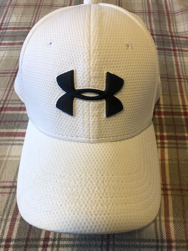 Under Armour Men s Blitzing II Stretch Fit Cap White (100) Medium Large   fashion  clothing  shoes  accessories  mensaccessories  hats (ebay link) ed820ad24b4c