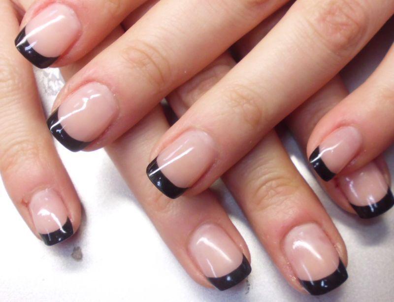 Frances negro manicure y pedicure pinterest franceses u as de gel y negro - Como hacer unas de gel en casa ...