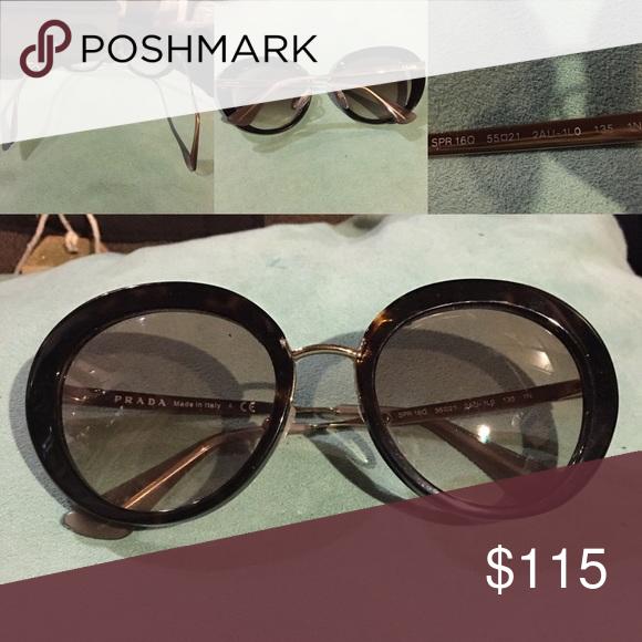 09119003e04 PRADA SPR 16Q Authentic PRADA SPR 16Q sunglasses. Price is for FRAME ONLY   reason