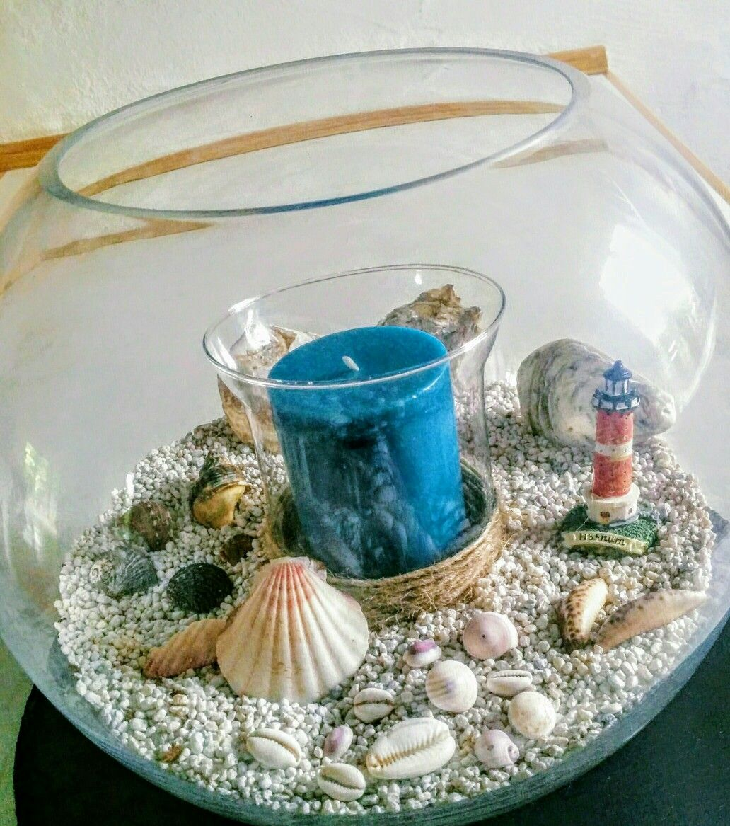 Diy maritim fishbowl summer decoration where the heart is