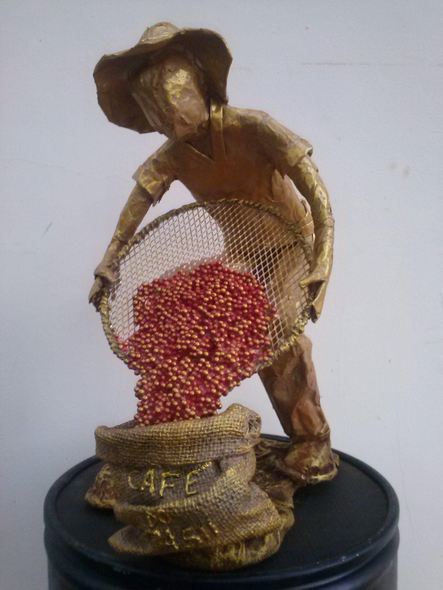 """ESSA OBRA : - CAFÉ DO BRASIL """" - FARA PARTE DO ACERVO DO """" UBERSEE - MUSEUM BREMEN, REPRESENTANDO ROLÂNDIA NA ROTA DO CAFÉ"""
