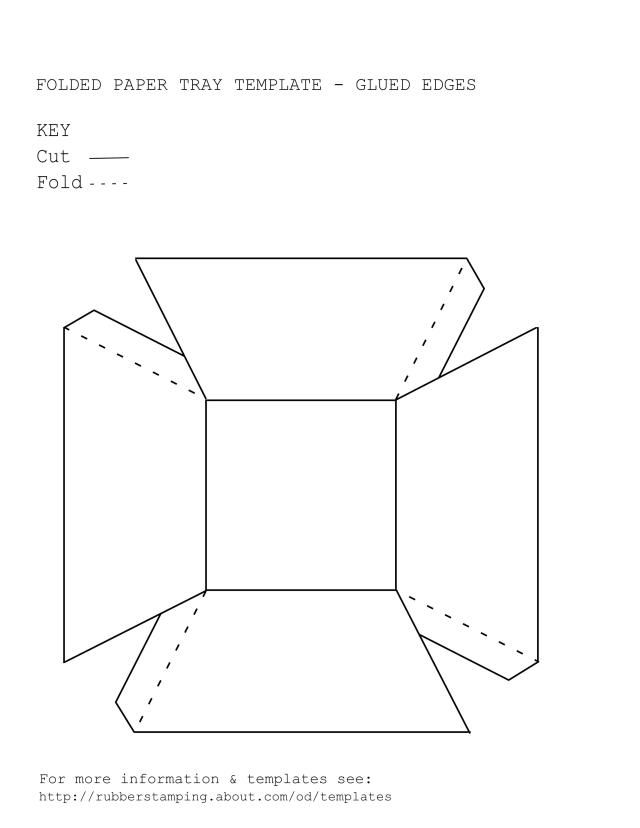 Free printable paper basket template in 3 styles to for Paper food tray template