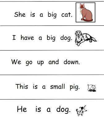 Growing Readers: Kindergarten Sight Word Sentences | School Supplies ...