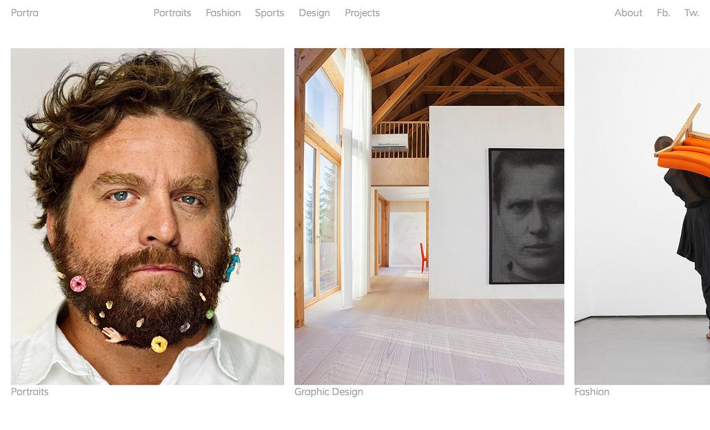 portra responsive horizontal portfolio theme free by wpshower