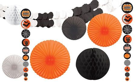 Modern Halloween Decorations - Garlands, Props, Balloons  More - halloween decorations party