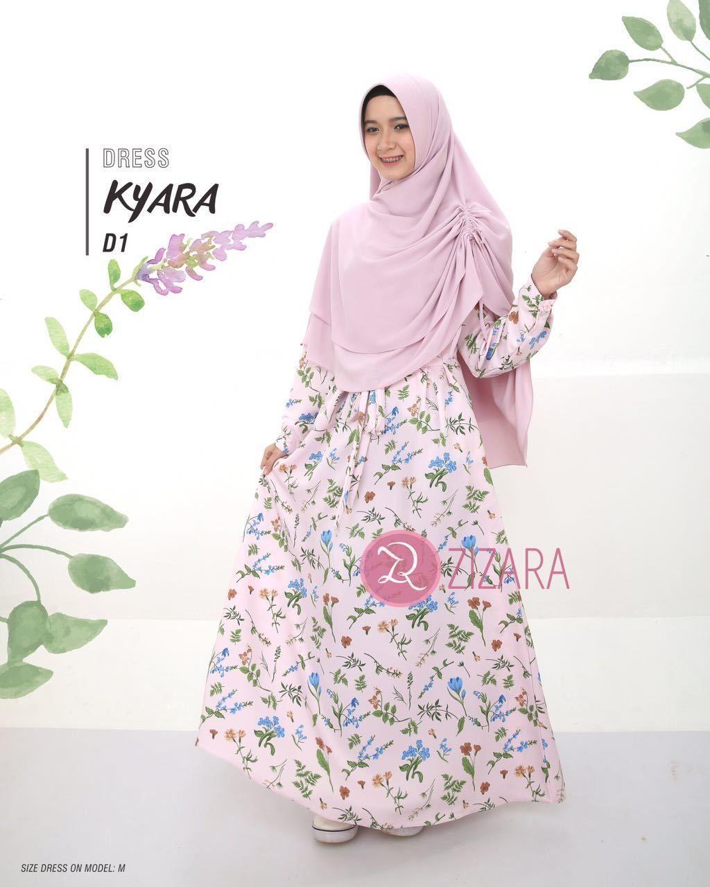 Gamis Zizara Kyara Dress D1 - baju muslimah busana muslim Kini hadir  untukmu yang cantik syari bb70ebc6e8
