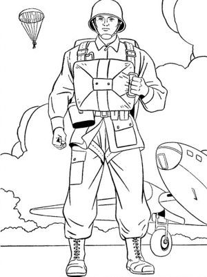 us airbone on duty veterans day coloring page free printable coloring pages for kids
