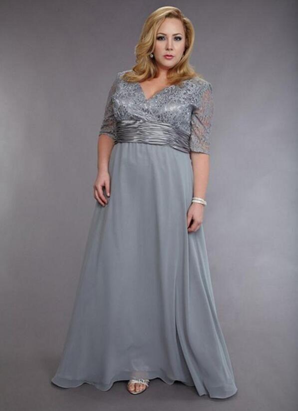 Plus Größe 2017 Mutter Der Braut Kleider A-line V-ausschnitt Halbarm ...