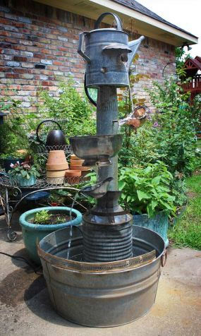 Repurposed Water Fountain With Old Galvanized U0026 Silverplate Parts    JUNKMARKET Style   This Piece Is SO Cool!