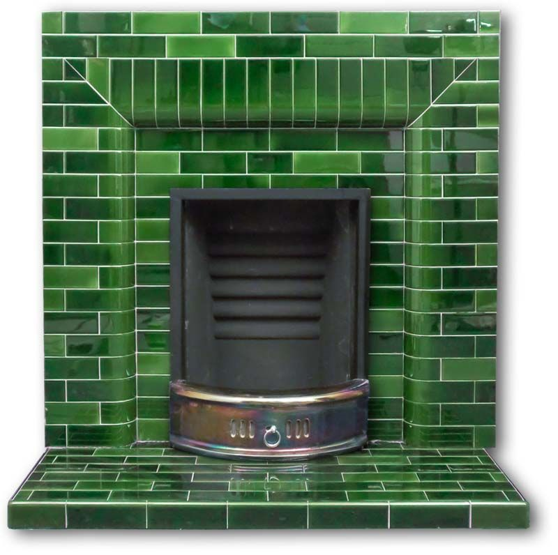 Not The Layout But Tile And Color Are Beautiful Green Victorian Fireplace Tiles Google Search