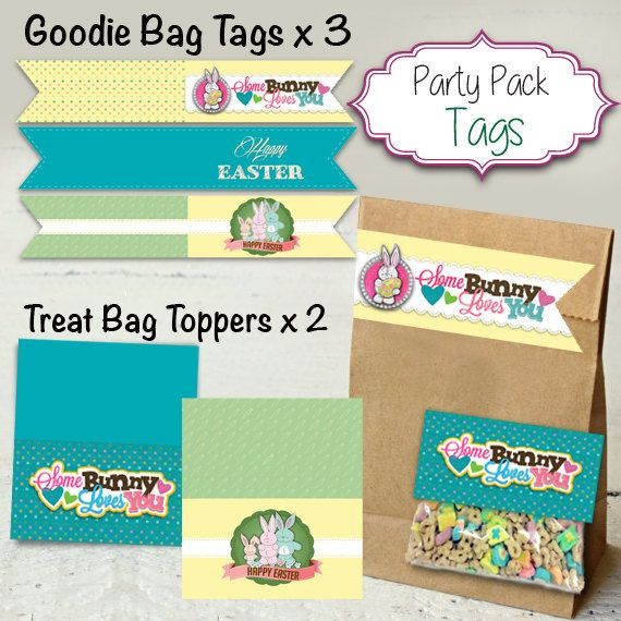 Easter Goodie Bag Tags  Easter Treat Bag by designtrunkinvites