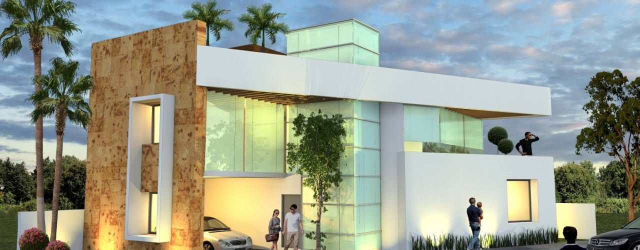 Fachadas de casas modernas fachadas de casas modernas for Fachadas exteriores minimalistas