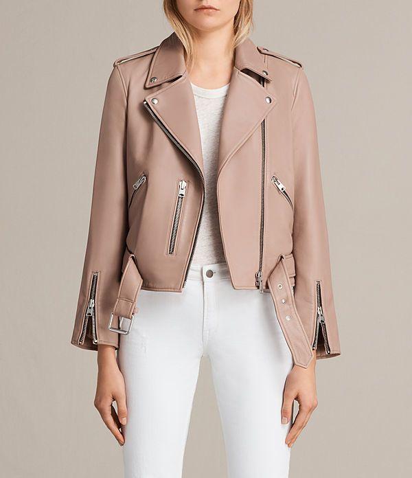 fe7de7fd3cc AllSaints Balfern Leather Biker Jacket   Products in 2019   Leather ...