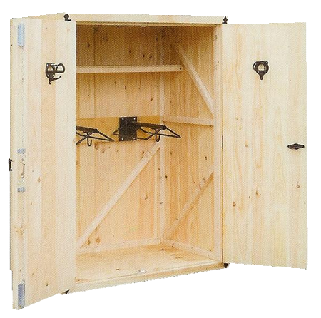 A storage unit to hold & organize all the tack. Great idea ...