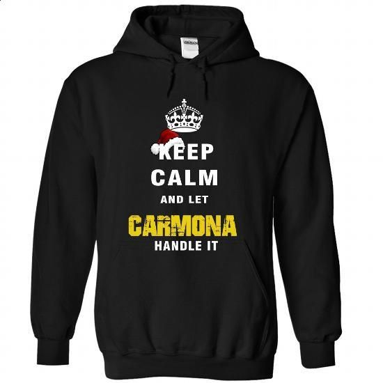Keep Calm And Let CARMONA Handle It - #tshirt feminina #sweater dress. GET YOURS => https://www.sunfrog.com/Names/Keep-Calm-And-Let-CARMONA-Handle-It-1979-Black-Hoodie.html?68278