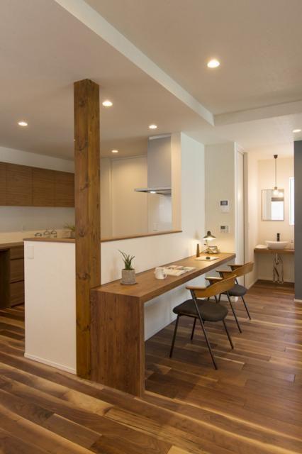 キッチンカウンター 無印良品の家 キッチンカウンター おしゃれ 家のインテリアデザイン