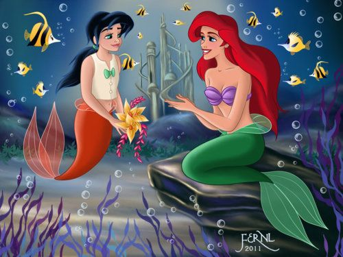 Ariel And Eric Fan Art Melody And Ariel Mermaid Disney Ariel The Little Mermaid Little Mermaid 2