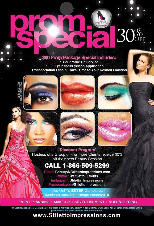 Make Up Artist Promotional Flyer Design Graphic Design Makeup