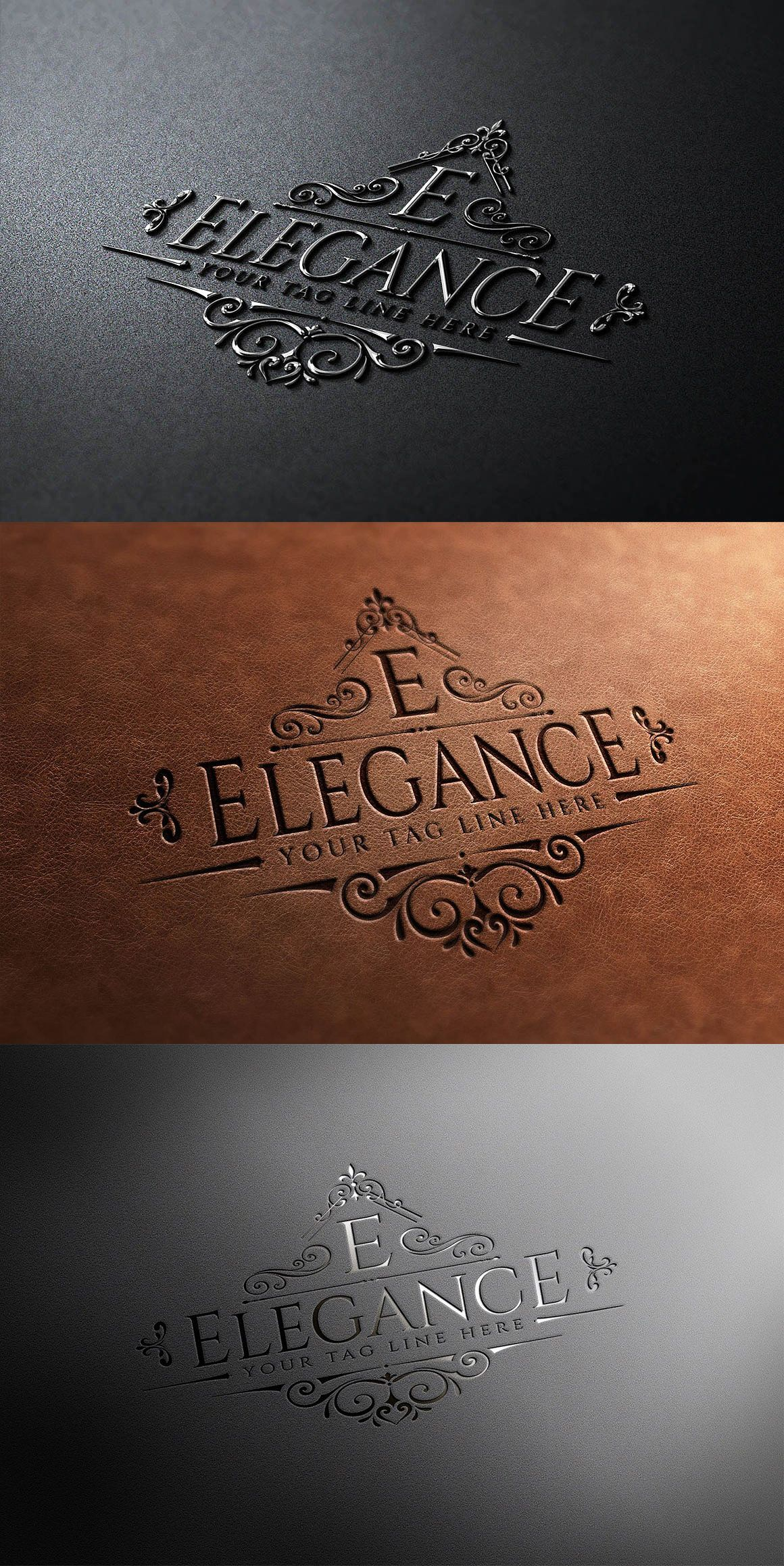 Elegance Logo Logo templates, Template design, Elegant