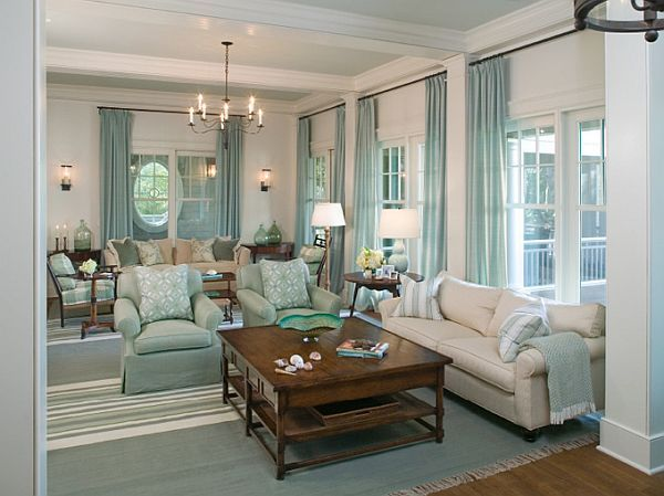 Charming Living Room by Tammy Conner, Interior Designer #Turquoise #Living Room #Decor