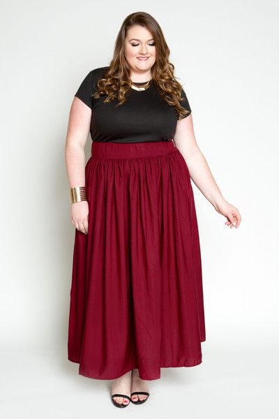 Plus Size Clothing for Women - Ruby Romance Maxi Skirt with ...