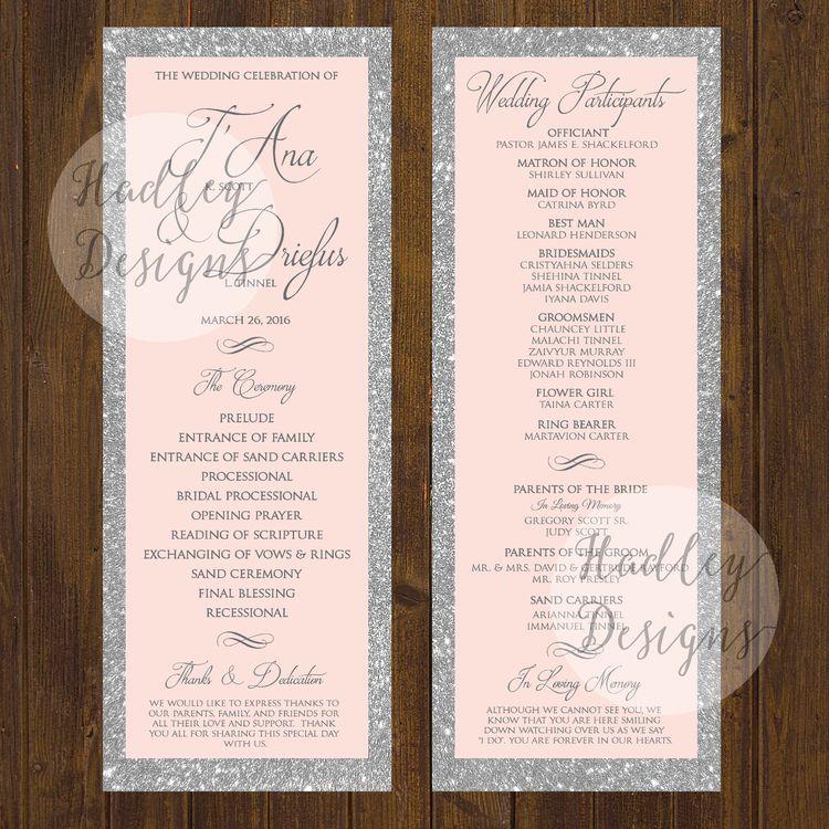 Wedding Programs, Wedding Ceremony Programs, Wedding Program
