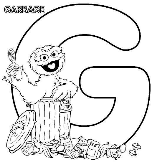 G is for Garbage. | Color me | Pinterest