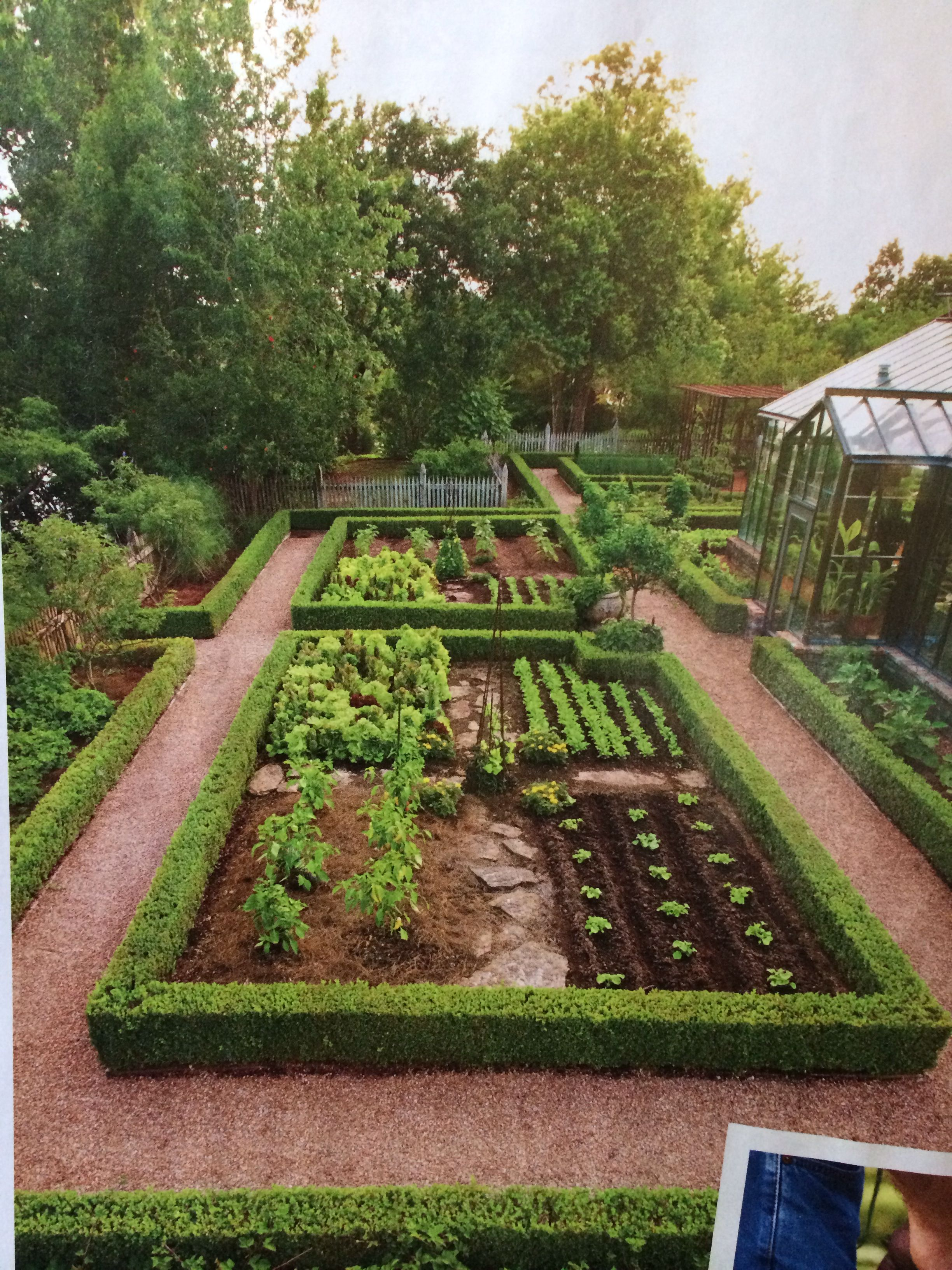 Exceptionnel VEGETABLE GARDEN 1/4 Acre Garden Divided Into Series Of Parterres. Sheared  Japanese Boxwood Define The Various Vegi And Herb Plots.