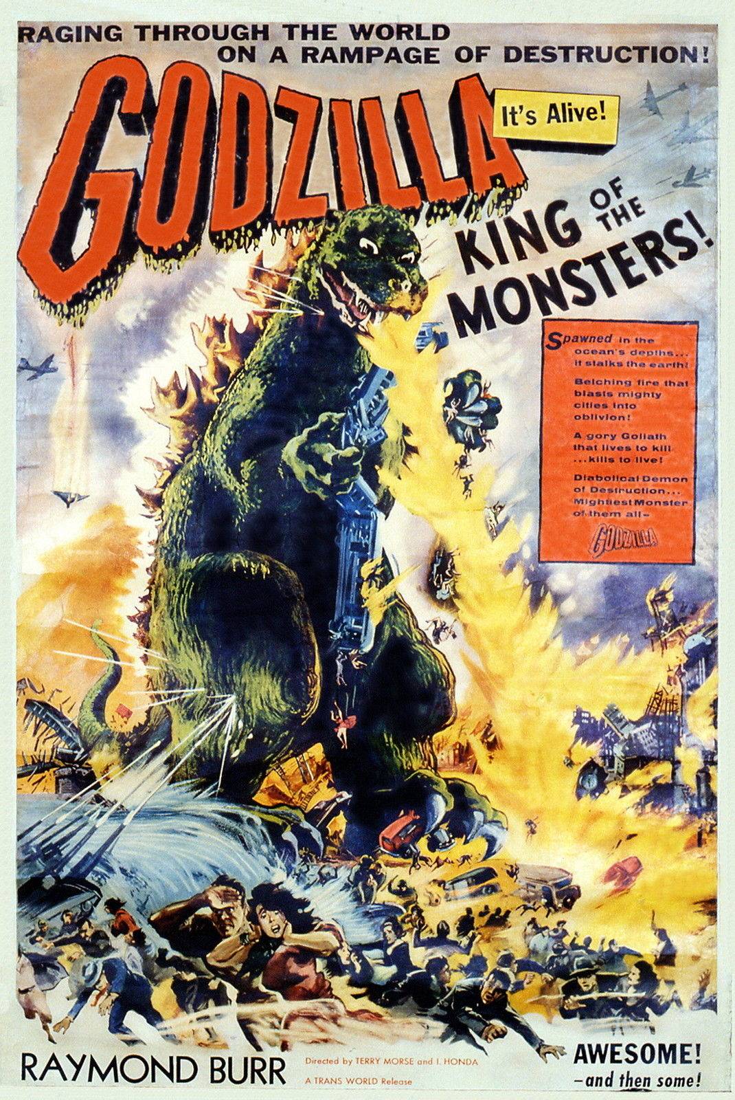 Movie Posters # 32-8 x 10 Tee Shirt Iron On Transfer Godzilla
