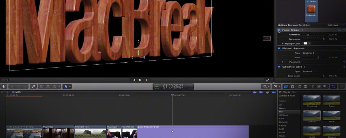 Intro to 3d text in FCPX 10 2 | Final Cut Pro X | 3d text