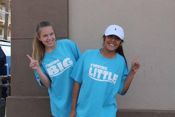 Finding Big and Little, Big Little Reveal, Sorority T-shirts, Sorority Reveal, Big, Little, Grand Big, Sorority Family #biglittlereveal