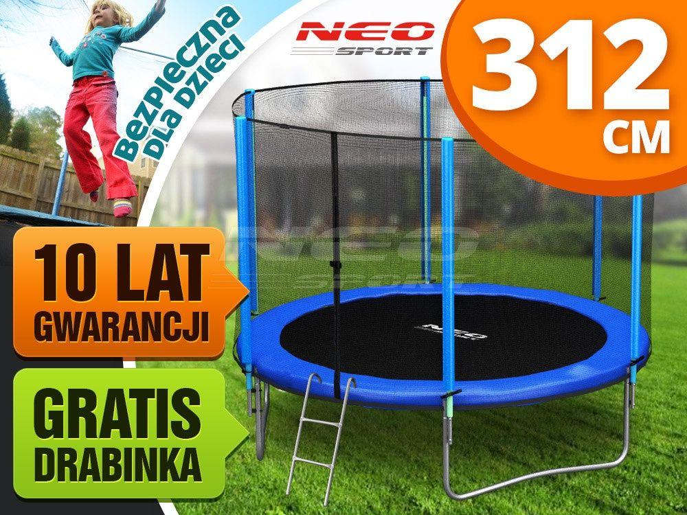 Trampolina Ogrodowa 10ft 312cm Z Siatka Zewnetrzna I Drabinka Neo Sport Sports Lat