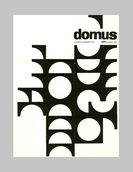 """""""Ilio Negri, cover design Domus, 1959. Editoriale Domus. Via aiap.it """""""