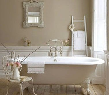 Peinture salle de bain couleur lin Little Green | BEAUTIFUL BATHS ...