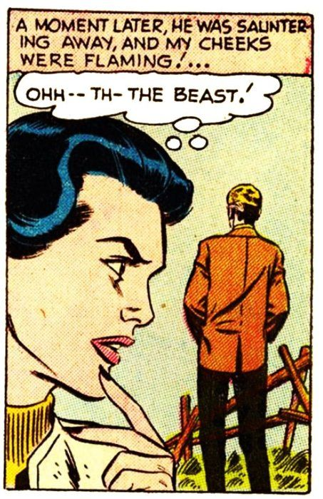 She let out the Beast! | Vintage Comic Panel, Pop Art via Comically Vintage.