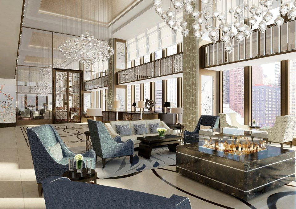 The langham chicago lobby reception pavilion new and - Interior design firms chicago ...