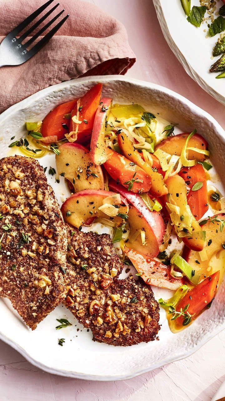 #Apples #leeks #turkey #WalnutCrusted     Using ground nuts and seeds on a cutlet instead of breadcrumbs ups both the nutrition and flavor. Even better, walnuts contain omega-3 fatty acids , and flax seeds add a prebiotic punch. #turkeyrecipe #healthymealidea #healthyrecipe #walnutsnutrition #Apples #leeks #turkey #WalnutCrusted     Using ground nuts and seeds on a cutlet instead of breadcrumbs ups both the nutrition and flavor. Even better, walnuts contain omega-3 fatty acids , and flax seeds a #walnutsnutrition