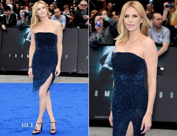 Charlize Theron In Christian Dior - Prometheus London Premiere