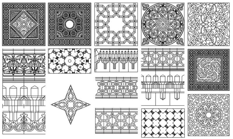 حصريا عدد 85 زخارف اسلامية رائعة اوتوكاد Dwg منتدى المهندس Islamic Pattern Islamic Mosaic Mosaic Patterns