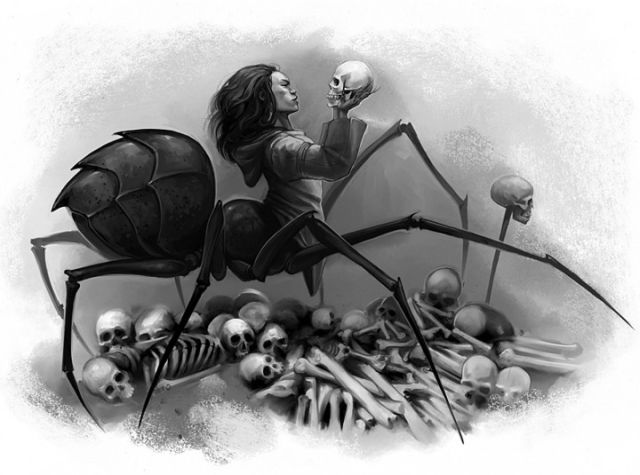 skulls | Ai'Sivang Picture (2d, fantasy, spider, monster, skulls)
