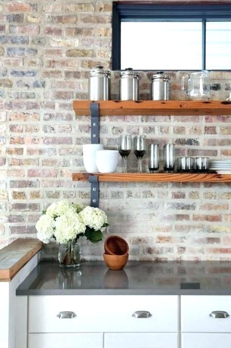 Faux Brick Backsplash Brick Faux Brick Tile Backsplash Kitchen Kalinda Info Backsplash Brick In 2020 Exposed Brick Kitchen Interior Design Kitchen Stylish Kitchen