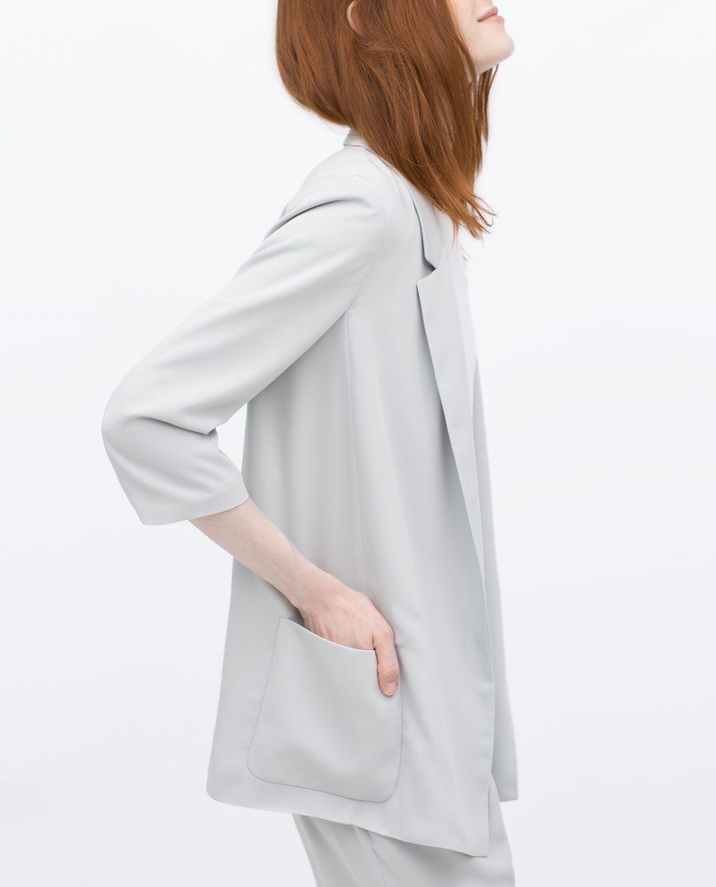 롱 크레이프 블레이저-Woman-이번 주 신상품   ZARA 대한민국